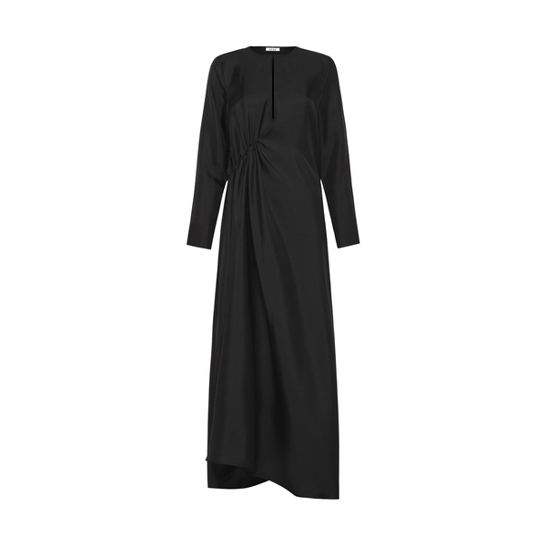 ESSE Gathered Long-Sleeve Dress