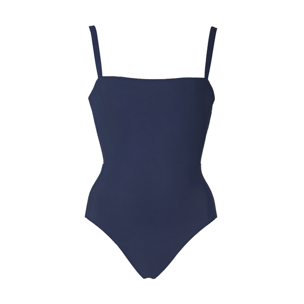 ANEMOS Solid Square-Neck Maillot