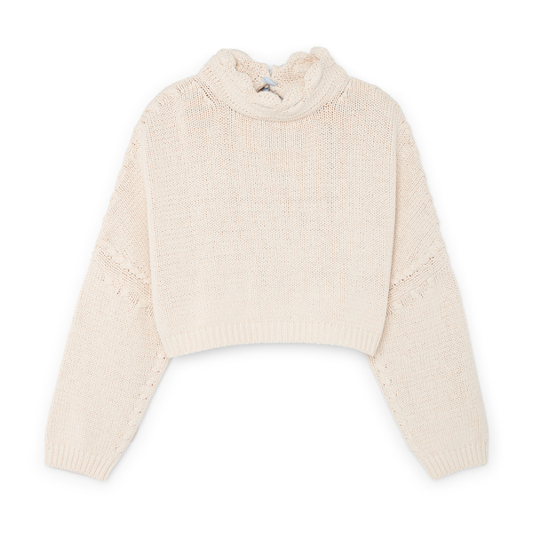 JW Anderson Cropped Jumper With Fabric Ties