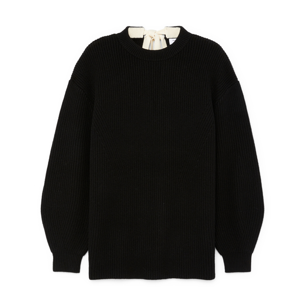 PROENZA SCHOULER WHITE LABEL Cashmere Sweater with Tie Back