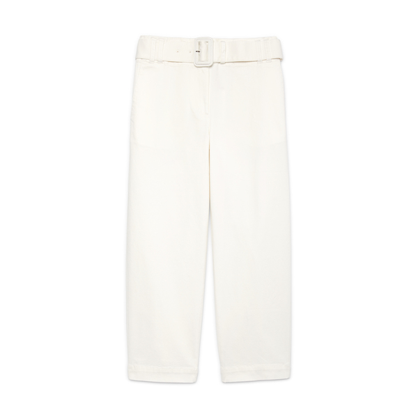 Proenza Schouler White Label Belted Cotton Twill Pants