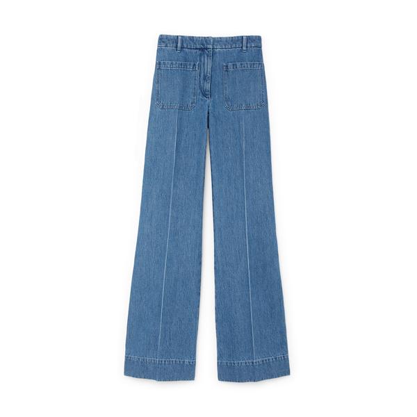 Victoria Beckham Patch-Pocket Jeans