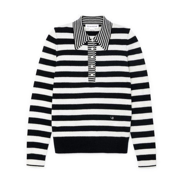 Victoria Beckham Striped Polo