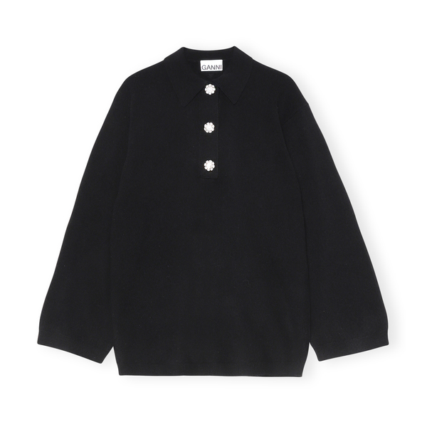 Ganni Collared Cashmere Sweater