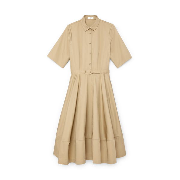 Co Short-Sleeve Flared Dress