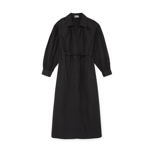 Co Long-Sleeve V-Neck Dress