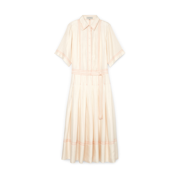 LEE MATHEWS Adelaide Short-Sleeve Shirtdress