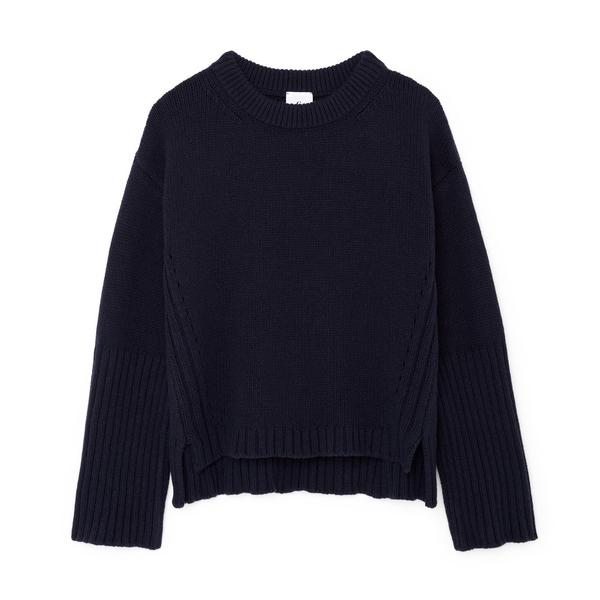 G. Label Van Nice High-Cuff Crewneck Sweater