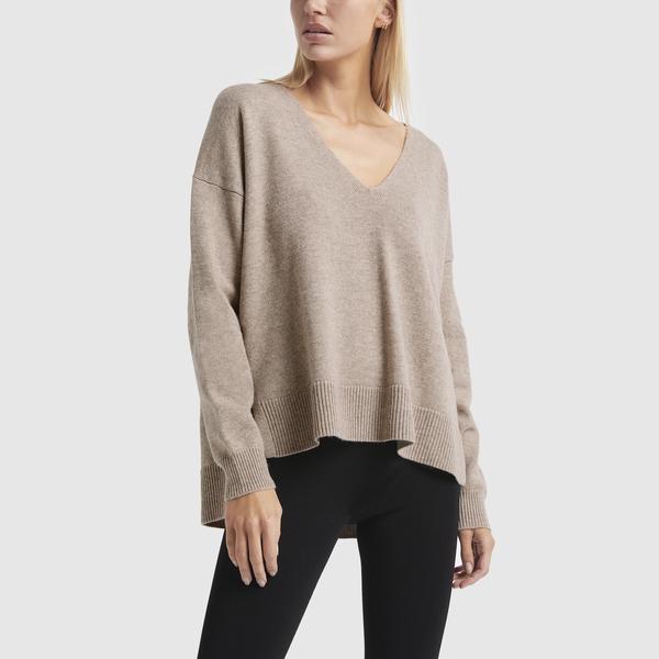Co V-Neck Side-Vent Sweater