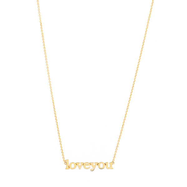 Jennifer Meyer Love You Necklace