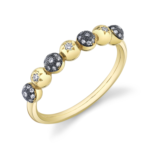 Sarah Hendler Diamond Pavé Ball and Star Half Eternity Band