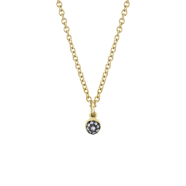 Sarah Hendler Pavé Diamond Ball Necklace