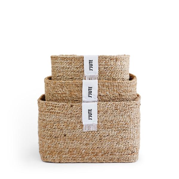 J'Jute Gateway Baskets, Set of 3