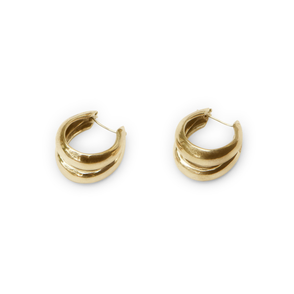 Sophie Buhai Gold 1930 Double Hoops