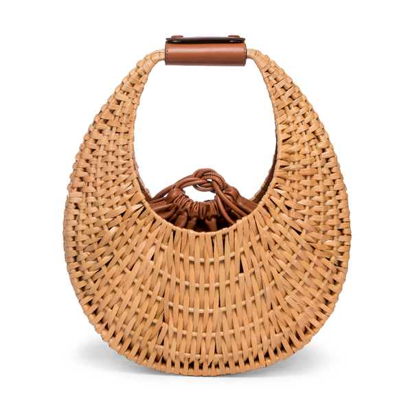 Staud Rattan Moon Bag