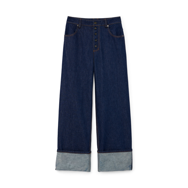 G. Label Alison Button-Fly Boyfriend Jeans