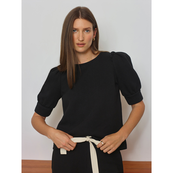 G. Label Martin Short Puff-Sleeve Sweatshirt