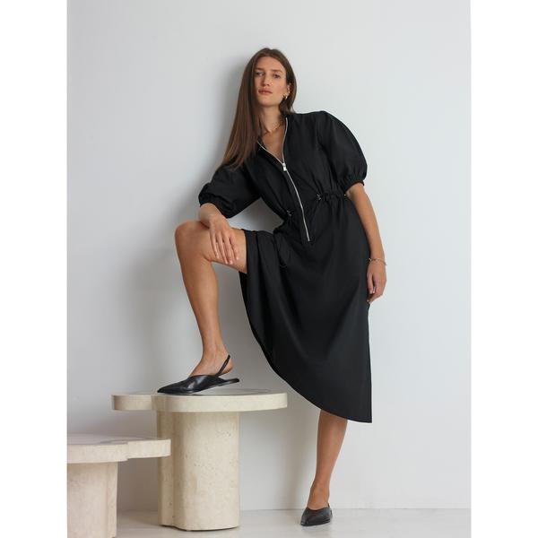 G. Label Emmity Zip-Front Utility Dress