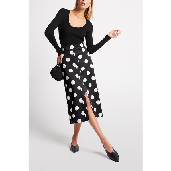 G. Label Danielson A-Line Polka-Dot Skirt