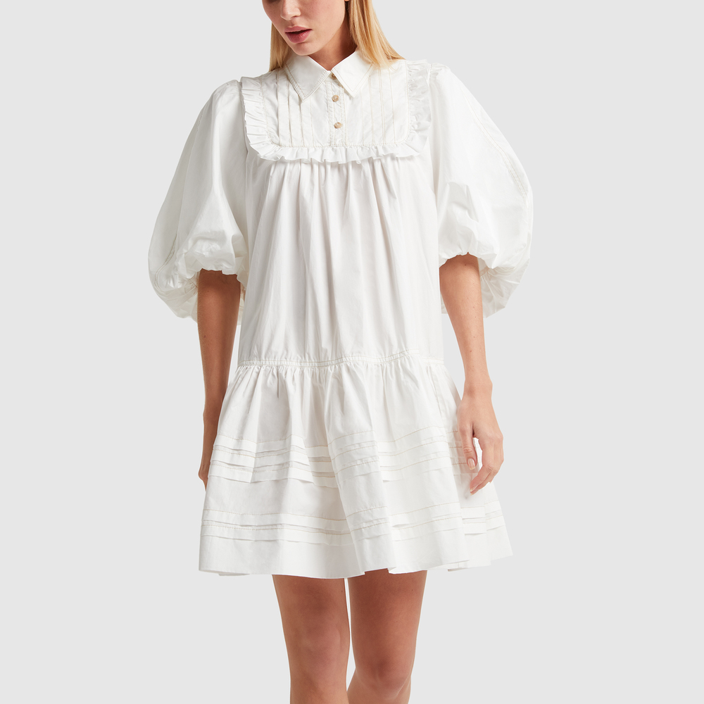 Lee Mathews JOHANNES SMOCK MINIDRESS