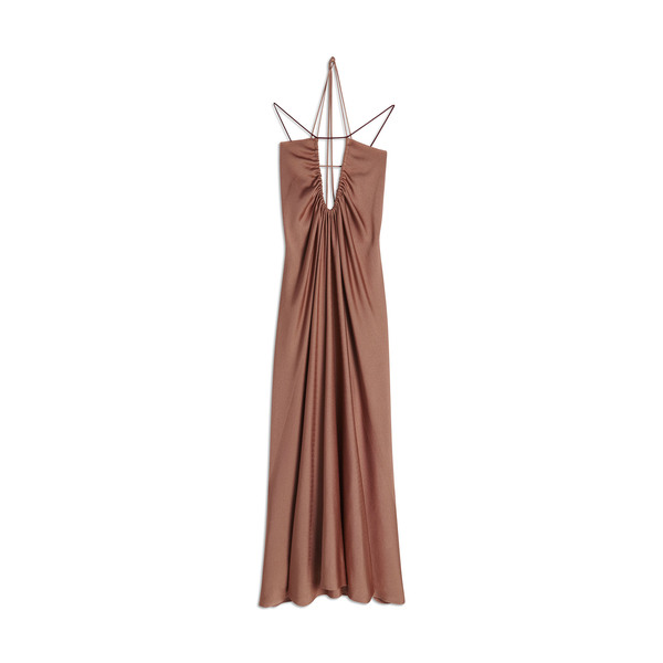 Victoria Beckham Ruched-Neck Dress