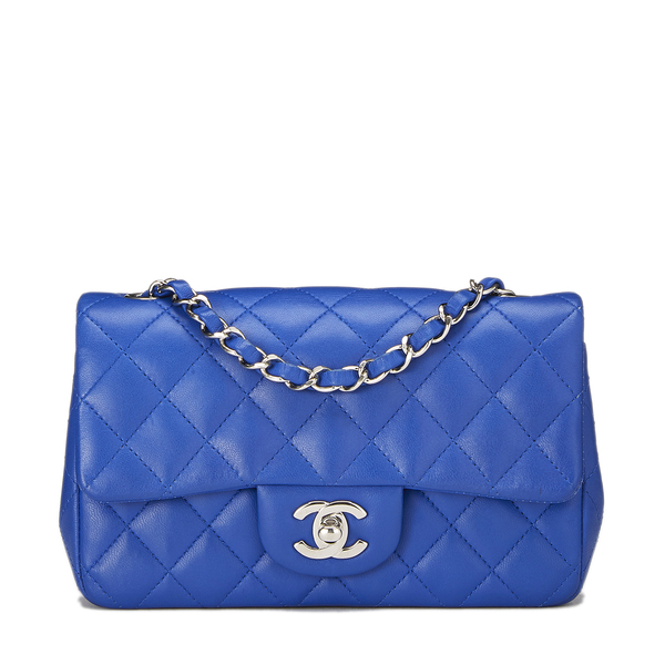 What Goes Around Comes Around Chanel Blue Half-Flap Small Bag