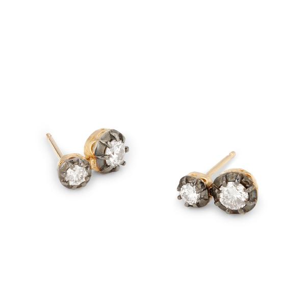 JACQUIE AICHE Two-Diamond Sophia Studs