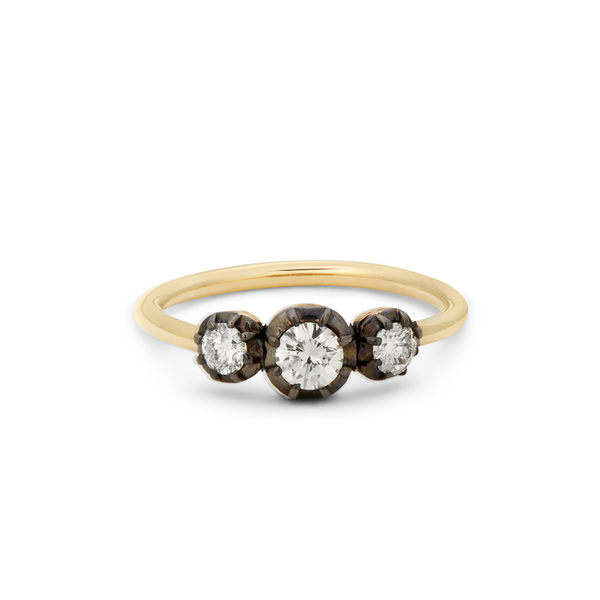 JACQUIE AICHE Three-Diamond Sophia Ring