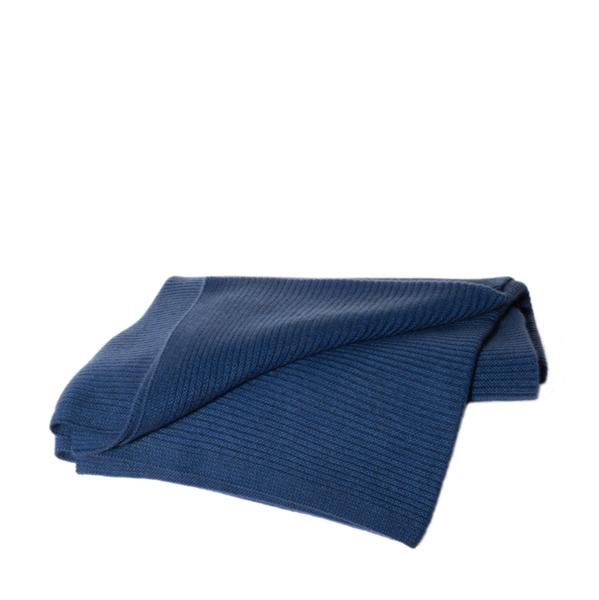HANGAI Cashmere Ribbed Knit Throw