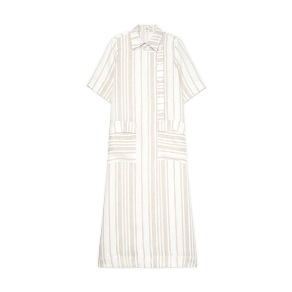 Co Asymmetrical Closure Shirtdress