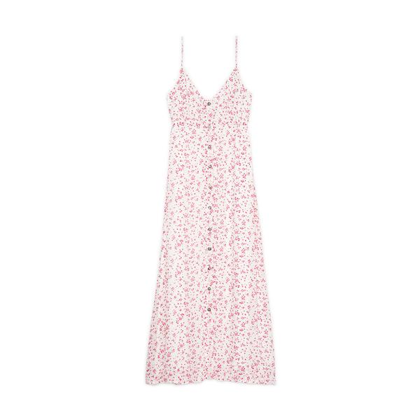 Ganni Printed Georgette Strap Dress