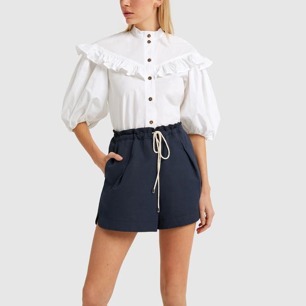GANNI Frill Shirt