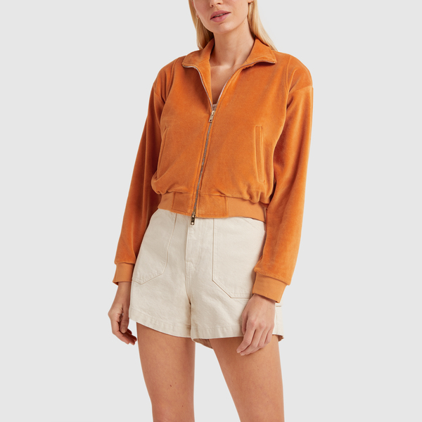 SUZIE KONDI Cropped Zip Jacket