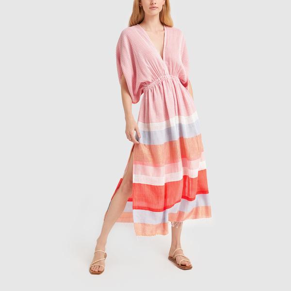 LEMLEM Marjani Plunge Neck Dress
