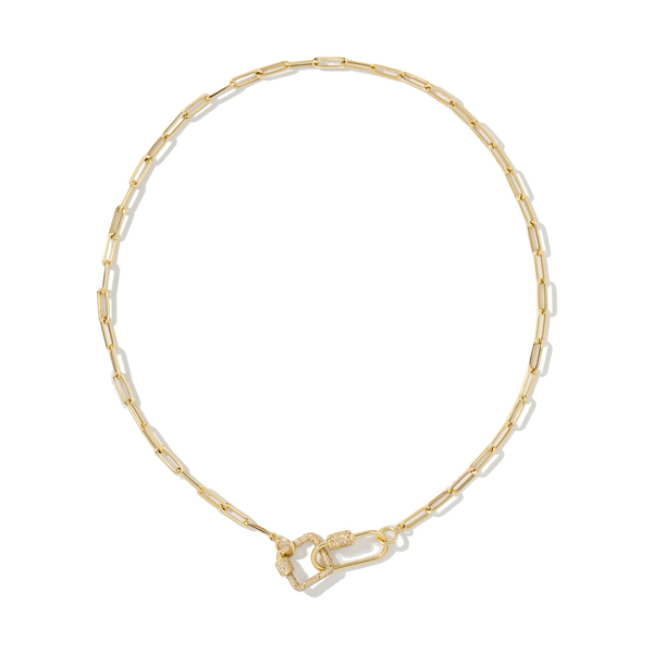 AS29 Chain-Link Necklace with Oval and Square Carabiners