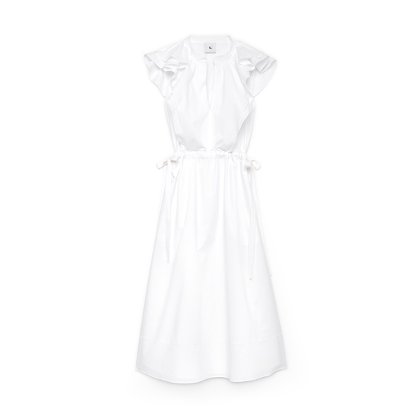 G. LABEL Connie Midlength Ruffle Dress