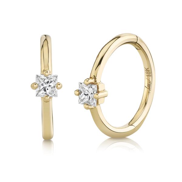 Lizzie Mandler 8MM Princess-Cut Diamond Seamless Huggies