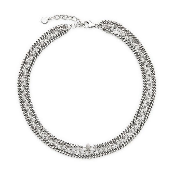 Sheryl Lowe Triple-Chain Necklace
