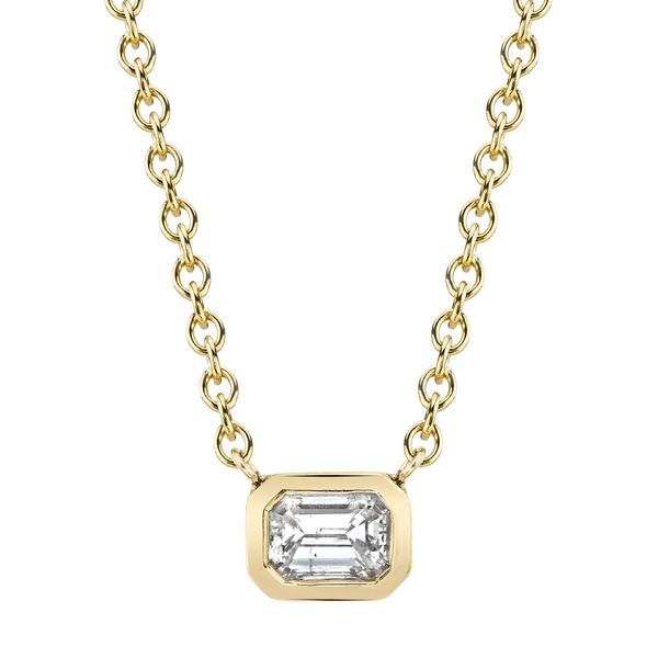 Lizzie Mandler Diamond Bezel Solitaire Necklace