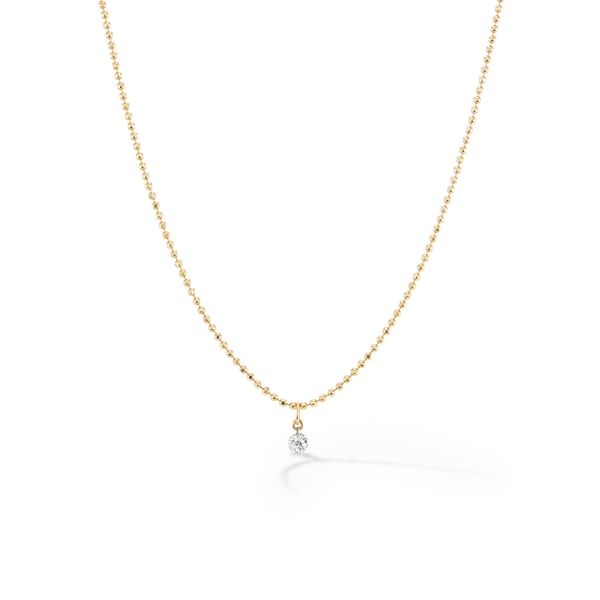 Sophie Ratner Pierced Diamond Ball Chain Necklace