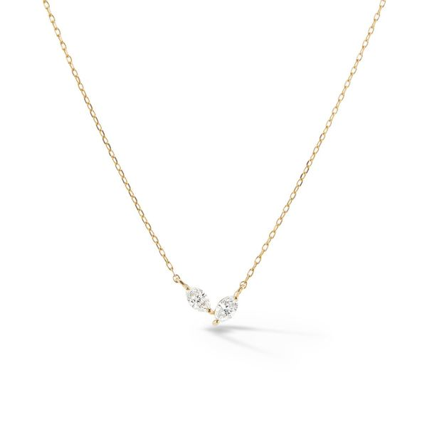 Sophie Ratner Twin Marquise Pendant Necklace