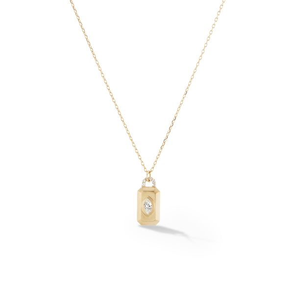 SOPHIE RATNER Diamond Empress Tag Necklace