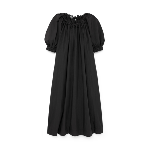 Co Ruched-Sleeve Tie Dress