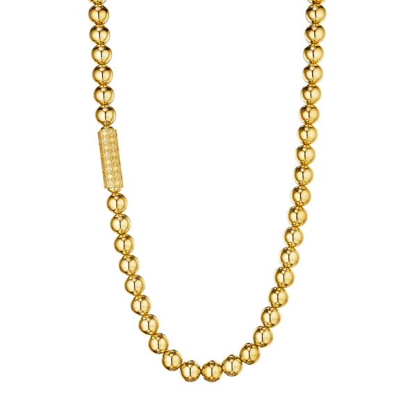 MANLUU Long Bead Necklace