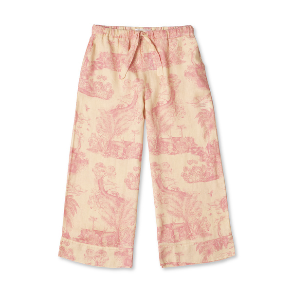 DESMOND AND DEMPSEY Wide-Leg Trousers