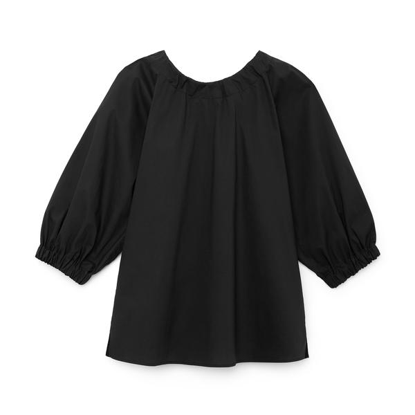 G. Label Jen Tie-Back Puff-Sleeve Top