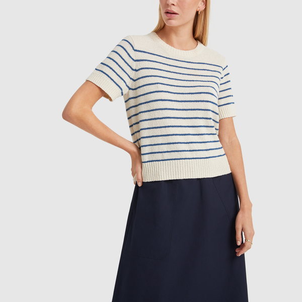 ALEX MILL Stripe Honey Sweater Tee