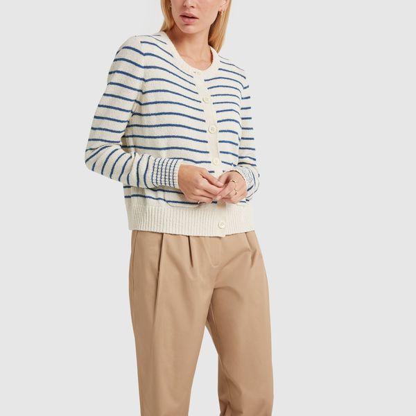 ALEX MILL Stripe Honey Cardigan