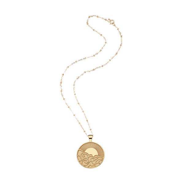 Jane Win Wanderlust Coin Pendant Necklace