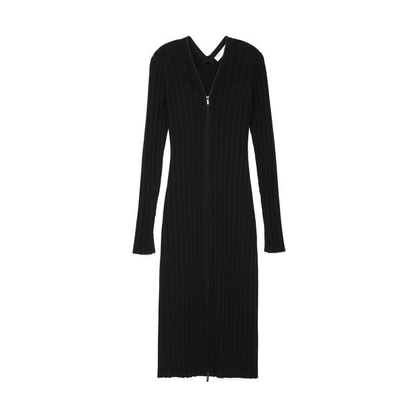 Proenza Schouler Rib-Knit Zip Cardigan Dress